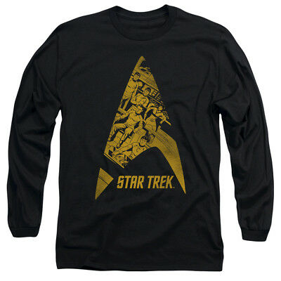 Star Trek Comics Crew in DELTA Vintage Style Adult Long Sleeve T-Shirt S-3XL