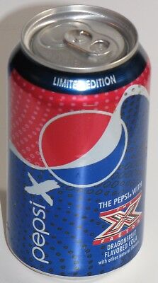 """Pepsi """"X Factor"""" Limited Edition Dragonfruit Flavored Cola 12 oz. Can - NEW!"""