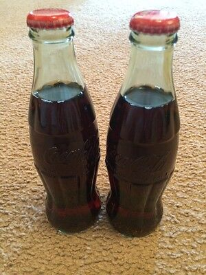 Lot of 2 Collectible Coke Coca-Cola Bottles 8 oz. WORLD OF COCA COLA ATLANTA GA