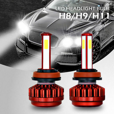 Combo H8 H9 H11 LED Total 400W 40000LM High Low Beam Headlight Kit 6000K White