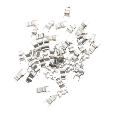 50 Pcs Plug In C Clamp for 5 x 20mm Electronic Fuse Tube D5E6