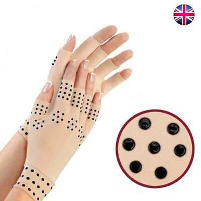Magnetic Anti-Arthritis Health Therapy Compression Gloves Hand Support UK
