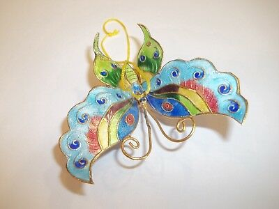 Cloisonne Enamel Butterfily Hanging Ornament Colorful