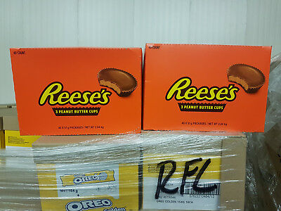 80 x 3pack Reese's Peanut Butter Cups * made in U.S.A. * 80 x 51 g (1.8 oz)
