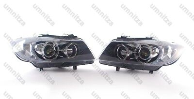 2005-2011 BMW 3 Series Sedan Wagon E90 E91 AFS Bi-Xenon Headlights Pair OEM