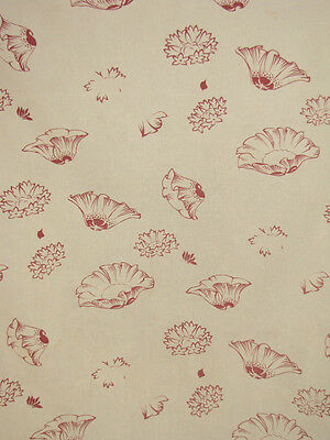 antique / Vintage French faded floral printed fabric c1910-1920 charming!