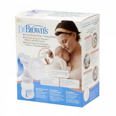 Dr Brown's -Manual Breast Pump & Wide Neck Feeding Bottle - Bruised Box