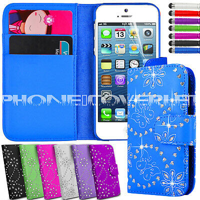Diamond Wallet Phone Case Cover For Apple iPhone 4,4G,4S/5,5G,5S/ iPhone6,6 Plus