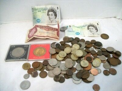 Large Lot of Foreign Coins, Paper Money, Antique & Modern