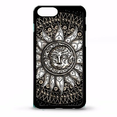 dd7b967953eb1 Aztec mayan sun & moon tribal tattoo pattern print vtg graphic phone case  cover