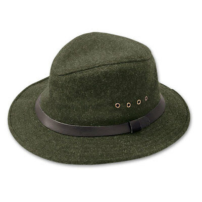 7dc651166171e C.C. FILSON VTG Virgin Wool Packer Fedora Indiana Jones Style Forest ...
