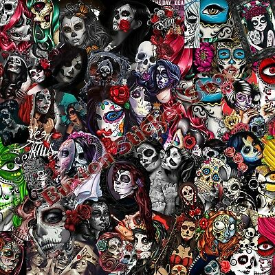 Sugar Skull  Decal Mexican Spanish Day Dead Stickers Bomb sheet Vinyl Decal