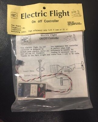 Hi Sky Electric Flight On/Off Controller For RC Model Airplane Controllers NOS