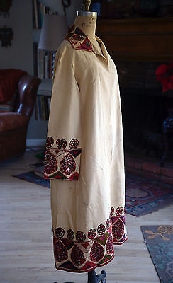 Unusual Antique Boukhani Kutch Embroidered Coat / Robe Textile