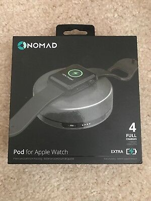 New Nomad Pod Portable Charger 1800mAh For Apple Watch Iwatch Battery Pack