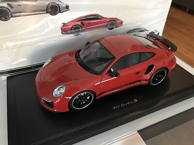 1/18 GT Spirit Porsche 911 991 Turbo S Red 40th Exclusive Dealer Edition 1of 350