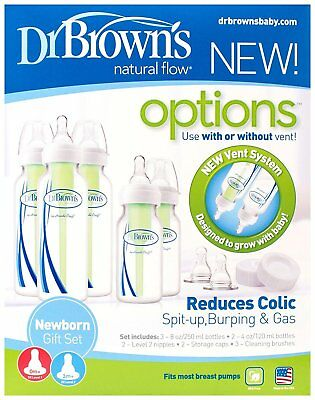 Dr Brown's Options Newborn Narrow Neck Baby Bottle Gift Set - Bruised Packaging