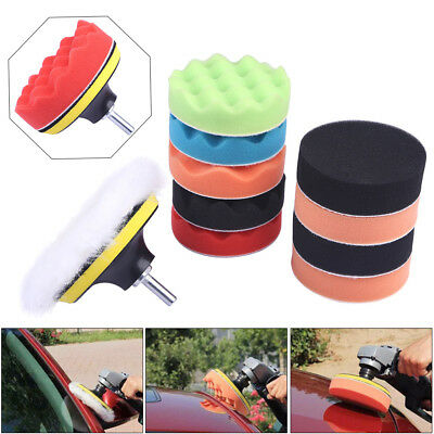 "11× 3/4/5/6/7"" Inch Buffing Sponge Polishing Pad Set Kit For Car Polisher Buffer"