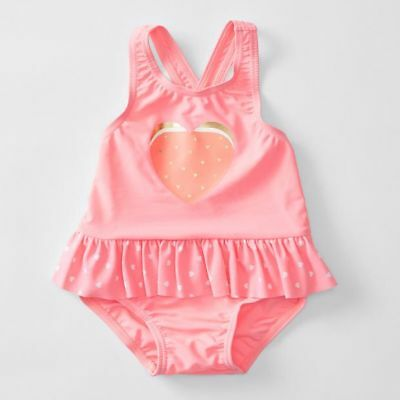 NEW Baby One Piece Heart Print Bathers
