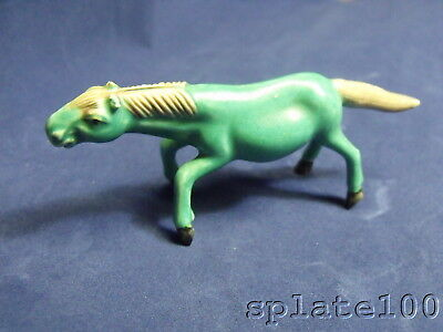 Porcelain Green Glazed Horse Minature