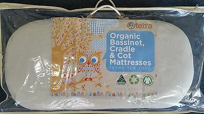 TETRA ORGANIC TEA-TREE BASSINET MATTRESS 40cm X 85cm - FIRM FILL ROUNDED CORNERS