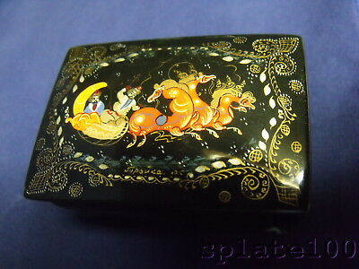 Russian Hand Painted Decorated Lacquer Box .99 No Reserve