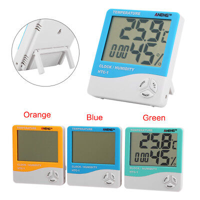 HTC-1 LCD Digital Thermometer Hygrometer Indoor Temperature Humidity Clock New