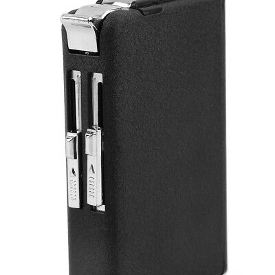 2 in 1 Cigarette Case Box Holder Windproof Flame Fire Gas Refillable Lighter DT