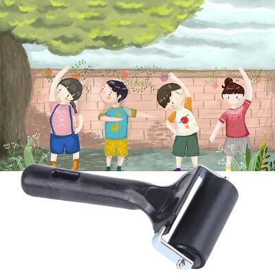 6cm Brayer Rubber Roller Brush Block Paint Art Painting Artists Craft Tool Black