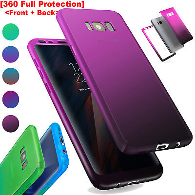 For Samsung Galaxy S8/S7 Note 8 360° Shockproof Full Body Hybrid Hard Case Cover
