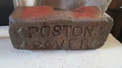 Vintage Brick  Poston Paver Attica Ind Indiana Red Clay Paperweight