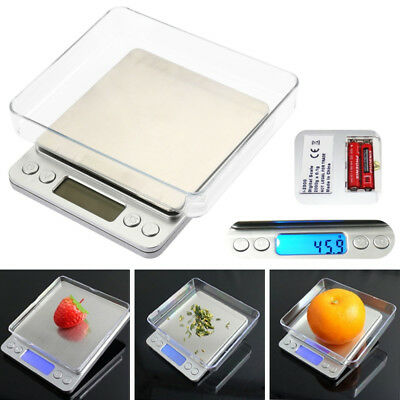 0.1g-3000grams Mini Digital LCD Scale Weighing Jewelry Gold Herbs Pocket Size