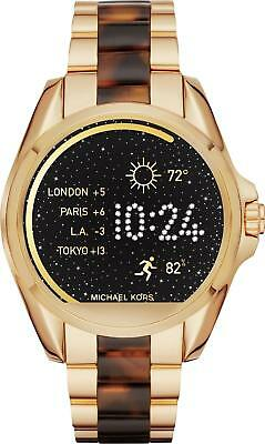 New Michael Kors Access Gold Tortoise Two Tone Touch Screen Smart Watch MKT5003