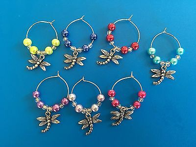 Drangonfly Wine Glass Charms Wedding Gifts Barware Favours Garden