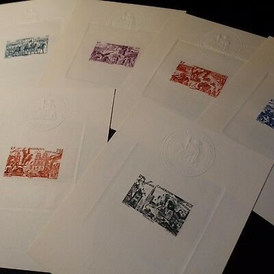 Cameroon Épreuve Luxury Post Aerial Pa No.32/37 Stamp Not Indented Imperf