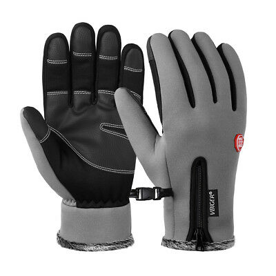 Womens Mens Thickened Waterproof Windproof Warm Gloves Touch Screen Ski Cycling