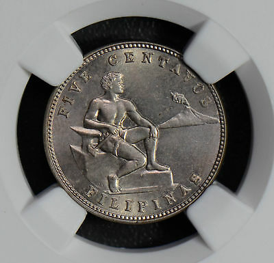 NG0552 Philippines 1930 M 5 Centavos NGC MS63 combine shipping