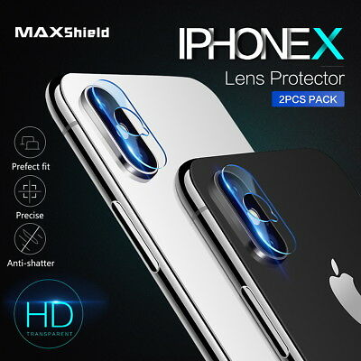 2X MAXSHIELD iPhone X 8/7 7/8 Plus Camera Lens Tempered Glass Screen Protector