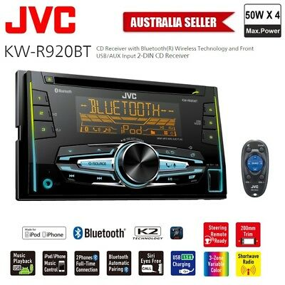 NEW JVC KW-R920BT DOUBLE-DIN Bluetooth CD USB Head Unit Iphone Android