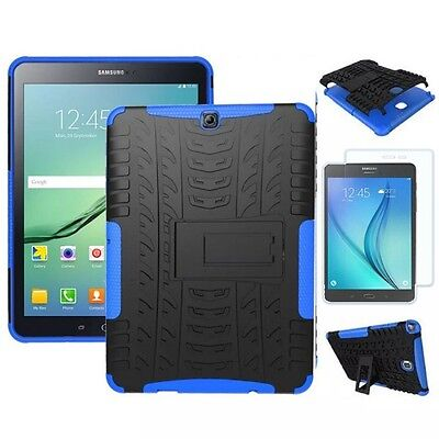 Hybrid Outdoor Case Blue for Samsung Galaxy S2 9.7 T810 N + 0.4 H9