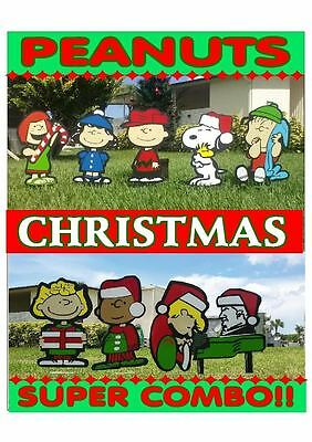 SUPER COMBO Set Outdoor Christmas time Lawn Decorations Yard Xmas Decor