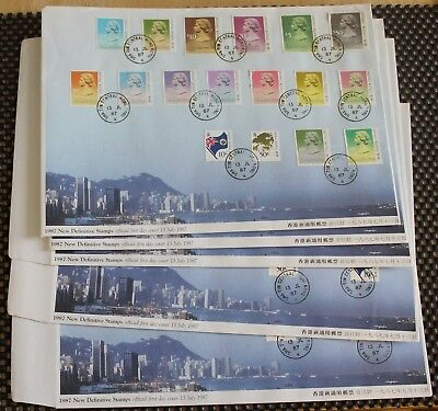 5 Hong Kong First Day Covers Including A $50 Stamp   Stamps   KM Coins