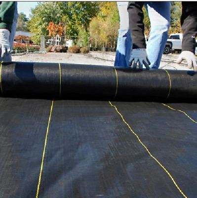 2m Wide Weed Control Fabric Ground Cover Membrane Landscape Heavy Duty 100gsm