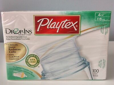 Playtex Drop-Ins Pre-Sterilized Disposable Liners 4oz (100 Liners)