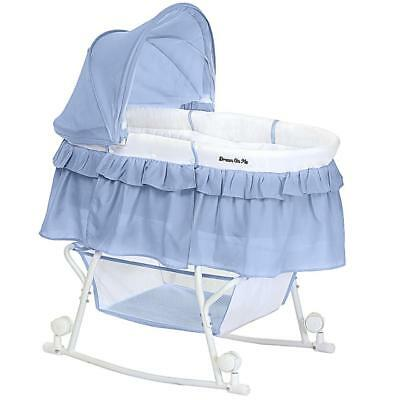 Dream On Me Lacy Portable 2-in-1 Bassinet and Cradle - Serenity