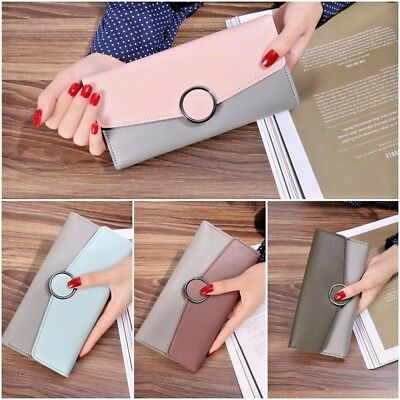 UK Fashion Women Leather Clutch Wallet Long Card Holder Case Purse phone Handbag