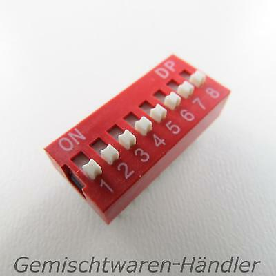 1x Dip Encoder Switch Standing Print 8-Pole Compartment Mini Coding Knitter