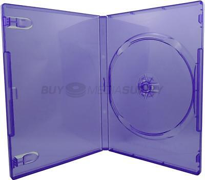 14mm Standard Clear Purple 1 Disc DVD Case - 200 Pack