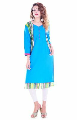 Rayon New Indian Bollywood Kurta Kurti Designer Women Ethnic Dress Top Tunic