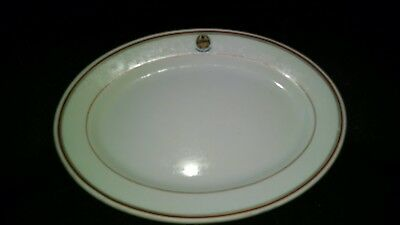 Antique Lamberton China Royal Navy Oval Plate Very Rare~~~~